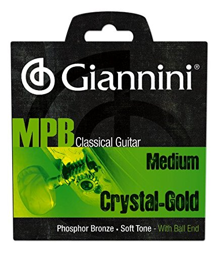 Giannini GENWG MPB Brazilian Jazz Classical Guitar Phosphor Bronze/Crystal Nylon with Ball End Strings