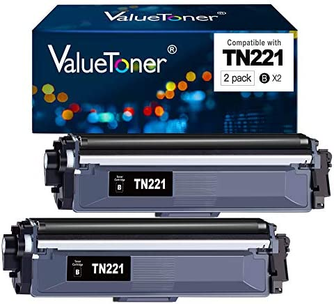 Valuetoner TN 221 Compatible Toner Cartridge Replacement for Brother TN221 to make use of with HL-3140CW HL-3150CDN HL-3170CDW MFC-9330CDW HL-3180CDW MFC-9130CW Printer (Black,2 Pack)