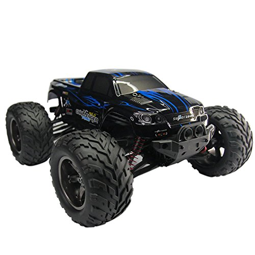 AMOSTING S911 33MPH 2.4GHz 2WD Off Road Waterproof Monster RC Truck, 1/12 Scale – Blue