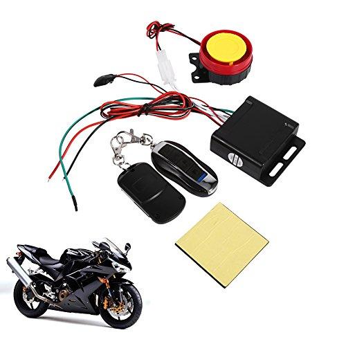 Keenso Motorfiets fiets voertuig diefstalbeveiliging alarmsysteem afstandsbediening 12 V, anti-jassing afstandsbediening…