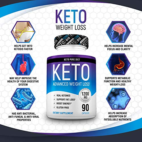 Keto Pure Diet Pills - Ketogenic Diet Supplement - Boost Energy and Metabolism - Keto Slim Supplement for Men and Women - 90 Capsules by Keto Pure Diet (Image #3)
