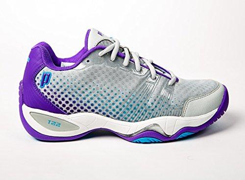Prince T22 Lite Women's Tennis Shoes (Gray/Purple/Blue) (8.5 B(M) US) (Tennis T22 Prince Shoe)