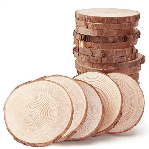 (Natural Wood Slices 30pcs Decorations 1.39inch Small Natural)