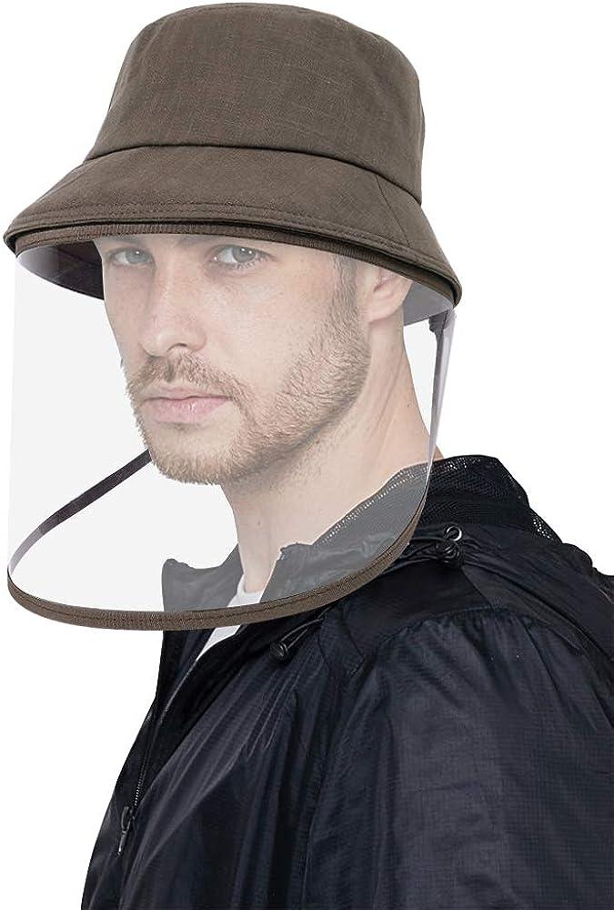 DOCILA Detachable Face Cover Bucket Hat for Men Women Versatile Outdoor Foldable Fisherman Sun Caps