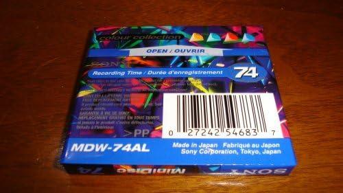 Sony Mdw-74al 74/Min MiniDisc limit/ée Collection de Couleur Bleu Saphir