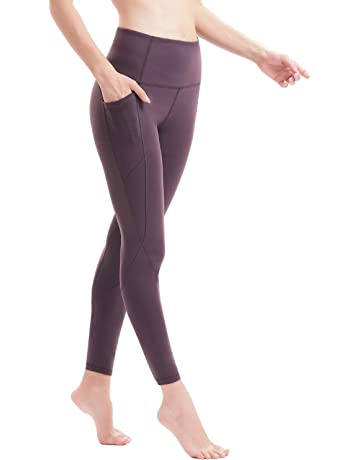 3a43ef28d60e5 AFITNE Women's High Waist Yoga Pants with Pockets, Tummy Control Workout  Running 4 Way Stretch