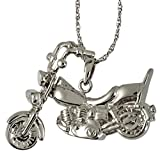 Memorial Gallery 3304s Motorcycle Sterling Silver Cremation Pet Jewelry