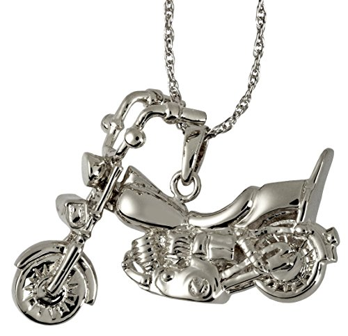 Memorial Gallery 3304s Motorcycle Sterling Silver Cremation Pet Jewelry by Memorial Gallery