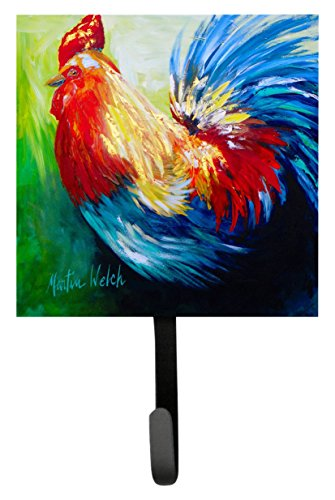 UPC 705332233910, Caroline's Treasures MW1137SH4 Bird-Rooster Chief Big Feathers Leash or Key Holder, Small, Multicolor