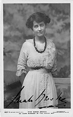 Theater Actor / Actress Old Vintage Antique Postcard Post Card, Postales, Postkaarten, Kartpostal, Cartes, Postkarte, Ansichtskarte Miss Sarah Brooke Autographed As Laura Murdock in The Easiest Way Writing on back