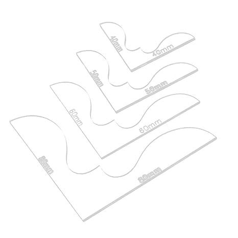MagiDeal 4pcs Moldes de Acrílico para Billeteras Bolsos Cuero Accesorio de Dibujo Herramienta de Artesanía -