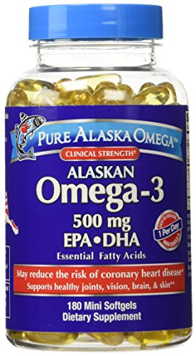 Clinical Strength Highly Concentrated Alaskan Omega-3 EPA DHA, 180 mini Softgels (Omega Salmon)