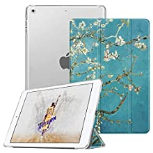 Fintie Case for iPad Mini 3/2/1 - Lightweight Smart Slim Shell Translucent Frosted Back Cover Protector Supports Auto Wake/Sleep for Apple iPad Mini 1/Mini 2/Mini 3, Blossom