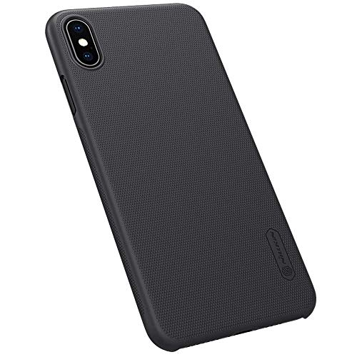 Mangix iPhone Xs Max Case,Slim Fit iPhone Xs Max Case, Hard Plastic Ultra Thin Protective Phone Cover Case with Film Screen Protector for Apple iPhone Xs Max 6.5 inch(Black)