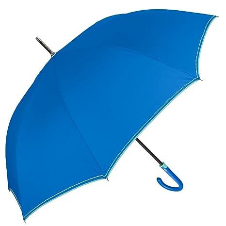 Paraguas Largo Mujer - Paraguas Grande Clásico y Antiviento - Ligero y resistente con Tratamiento TEFLON