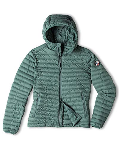 Chamonix Cailly Hooded Down Jacket Silver Pine Womens Sz S
