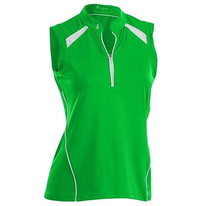 6476dc54 Nancy Lopez Sporty Sleeveless Golf Polo - Plus Size - Palm/White - 1X