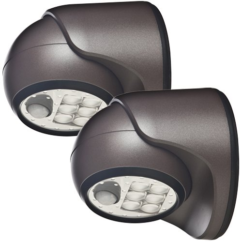 LIGHT IT! by Fulcrum 20035-107 6-LED Wireless Motion Sensor Security Porch Light, 2-pack, Bronze, 2 Piece from LIGHT IT! by Fulcrum
