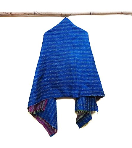 Silk Kantha Scarf Neck Wrap Stole Dupatta Hand Quilted Women Bandanas headband