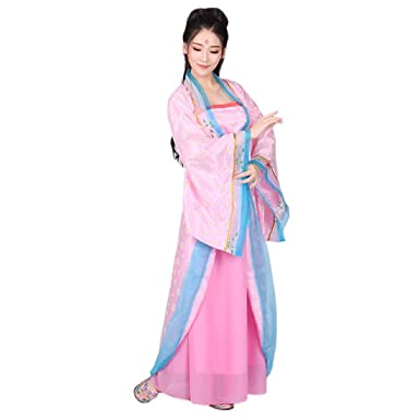 3a971e35d Ez-sofei Women's/Girls Ancient Chinese Traditional Hanfu Dress Tang Dynasty  Cosplay Costume (