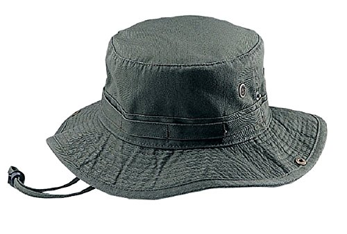 Mega Cap Washed Hunting Fishing Outdoor Hat, Olive -Large