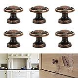 Bronze Round Drawer Pulls Knobs Kitchen Cabinet Knobs and Handles (30 Pack, Bronze)
