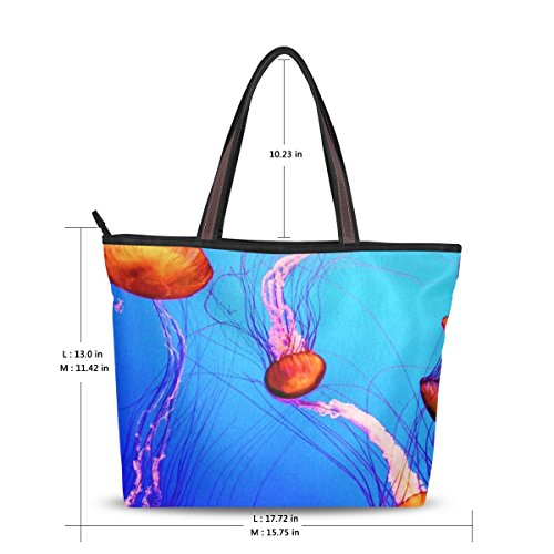 Jelly Bags Wholesale Purses (INGBAGS Fashion Large Tote Shoulder Bag Jelly Fish Pattern Women Ladies)