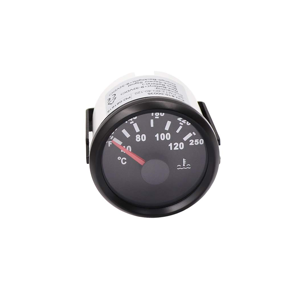 52mm Waterproof Digital Water Temp Meter 40-120 Car Temperature Gauge Indicator For Engine Motorcycle RV Auto Yacht Boat 12V 24V
