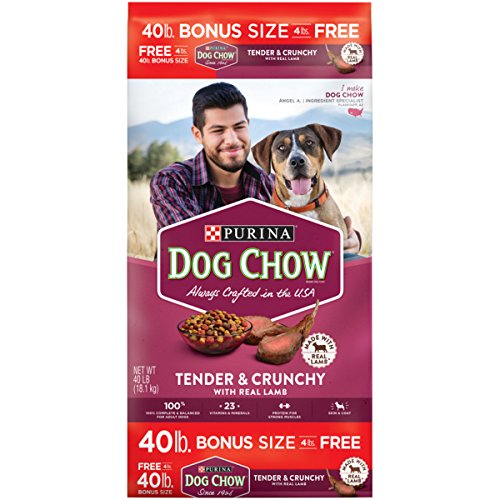 - Purina Dog Chow Dry Dog Food; Tender & Crunchy With Real Lamb - 40 lb. Bag