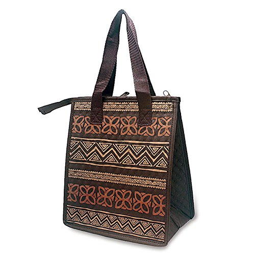 Hawaiian Insulated Lunch Bag Tapa Brown by Welcome to the Islands