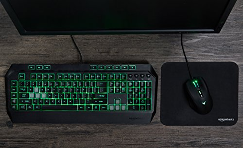 AmazonBasics Multi-color Gaming Mouse - Programmable Macros, 3200 Adjustable DPI