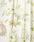 """Simple Comfort Abigail Traditional Hydrangea Floral Print (Tailored Panel Pair with Tiebacks, 90 x 84"""", Multi)"""