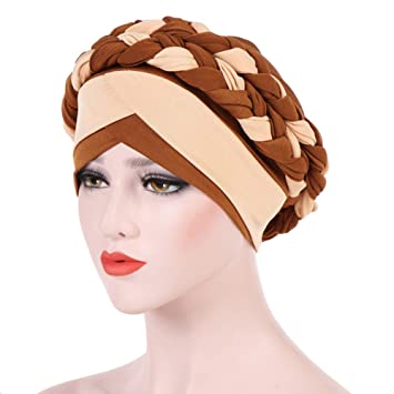Image Unavailable. Image not available for. Color  Women s Braid Turban  Headwear For Cancer Stretch Long ... cfb9e047da21