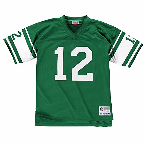 Namath Jersey (New York Jets Mitchell & Ness 1968 Joe Namath #12 Replica Throwback Jersey (M))
