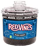 Red Vines Licorice Twists, Black Licorice Flavor, Soft & Chewy Candy, 3.5LB Bulk Tub
