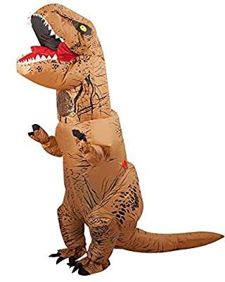 Halloween Inflatable T-Rex Dinosaur Blow Up Dress Up Funny Simulation Luxury Cosplay Costume Suit