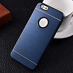 SOL ships in 48 hours 2 in 1 Metal Brushed Hard Case for iPhone6 (Assorted Colors) , Silver