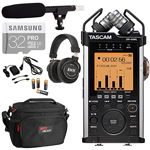 TASCAM DR-44WL Portable Handheld Digital Recorder WiFi, L...