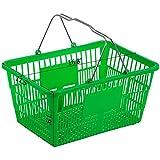 Mophorn 12PCS Shopping Basket, Plastic Green