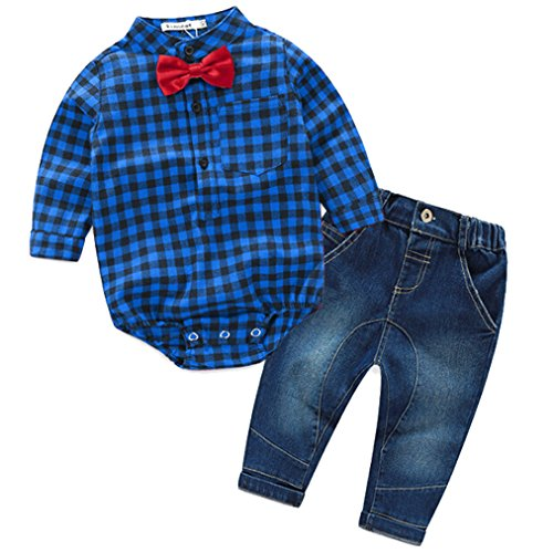 Infant Boys Denim Outfit - 3