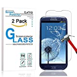 samsung 3 protective screen - Galaxy S3 Screen Protector - KATIN [2-Pack] Samsung Galaxy S3 III i9300 Premium 9H Tempered Glass 2.5D Round Edge , 3D Touch Compatible with Lifetime Replacement Warranty