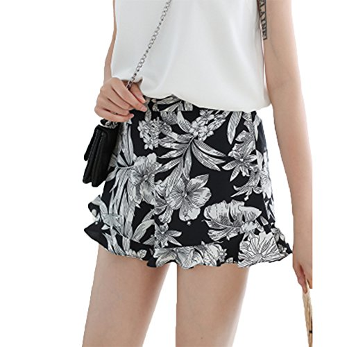 増幅器アンソロジーブランデー[SEYIXU]ショートパンツ 花柄 パンツ シンプル 可愛い 美脚