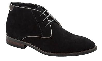 c882ac10b Adolfo Mens Charles Vegan Suede Leather Chukka Boots Black Size 7