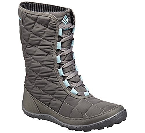 Columbia Women's Crystal Mid Lace Thermal Coil Waterproof Winter Boots, Grey Textile (8 B(M) US)