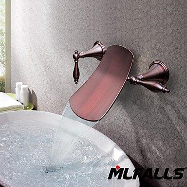 GDS Wasserhahn,Badezimmer Zubehör-Öl-plated Kupfer Wasserfall Wand-Waschtischmischer