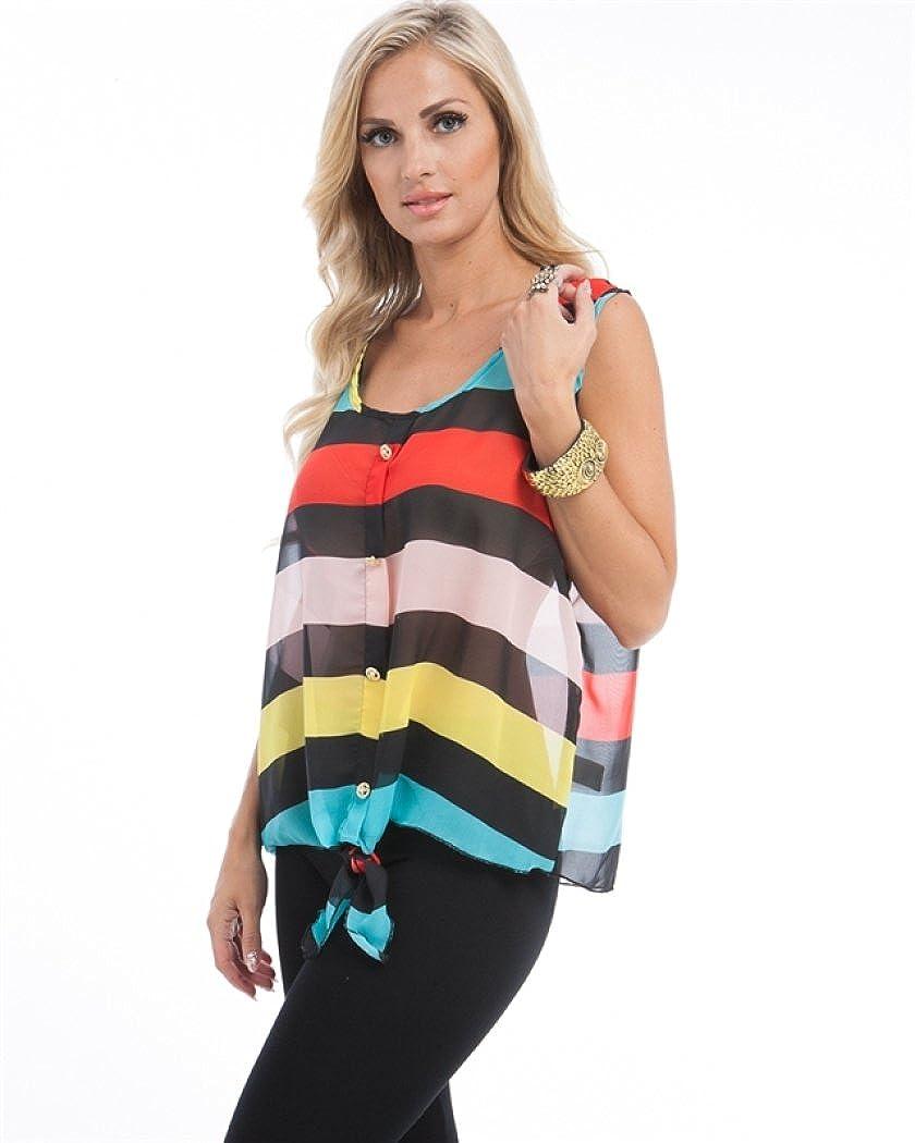 24ce53586d9 MOD Plus Women s Rainbow Stripe Tie Plus Size Top Red XL(P5003) at Amazon  Women s Clothing store  Fashion T Shirts