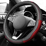 2002 acura tl type s wheels - FH Group FH2007RED Sleek and Sporty Genuine Leather Steering Wheel Cover, 1 Pack