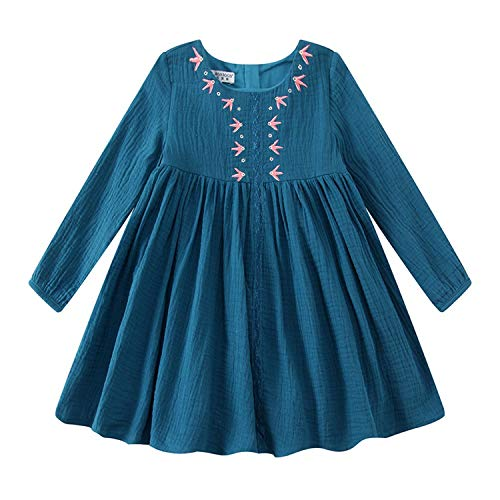 Kids Dresses for Girls Christmas Brand Princess Dress Autumn Embroidery Baby Girls Dress Children Clothing,51,Zt]()
