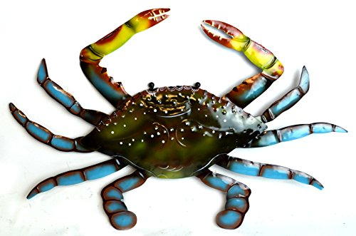 LG Beautiful Unique SEA Ocean Crab Metal Tropical Island Wall Art (Metal Crab)