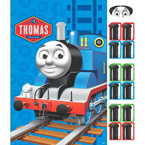 "Fun Thomas The Tank Birthday Party Game Activity, 24"" x 37"", Pack of 14."